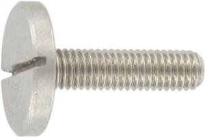 DIN 921 (Flachkopfschraube - Schlitz - großem Kopf)
