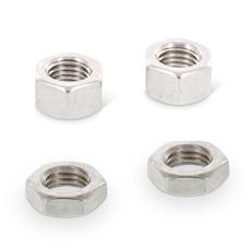 ISO 8673 + 8675: Sekskantede møtrikker med fingevind
